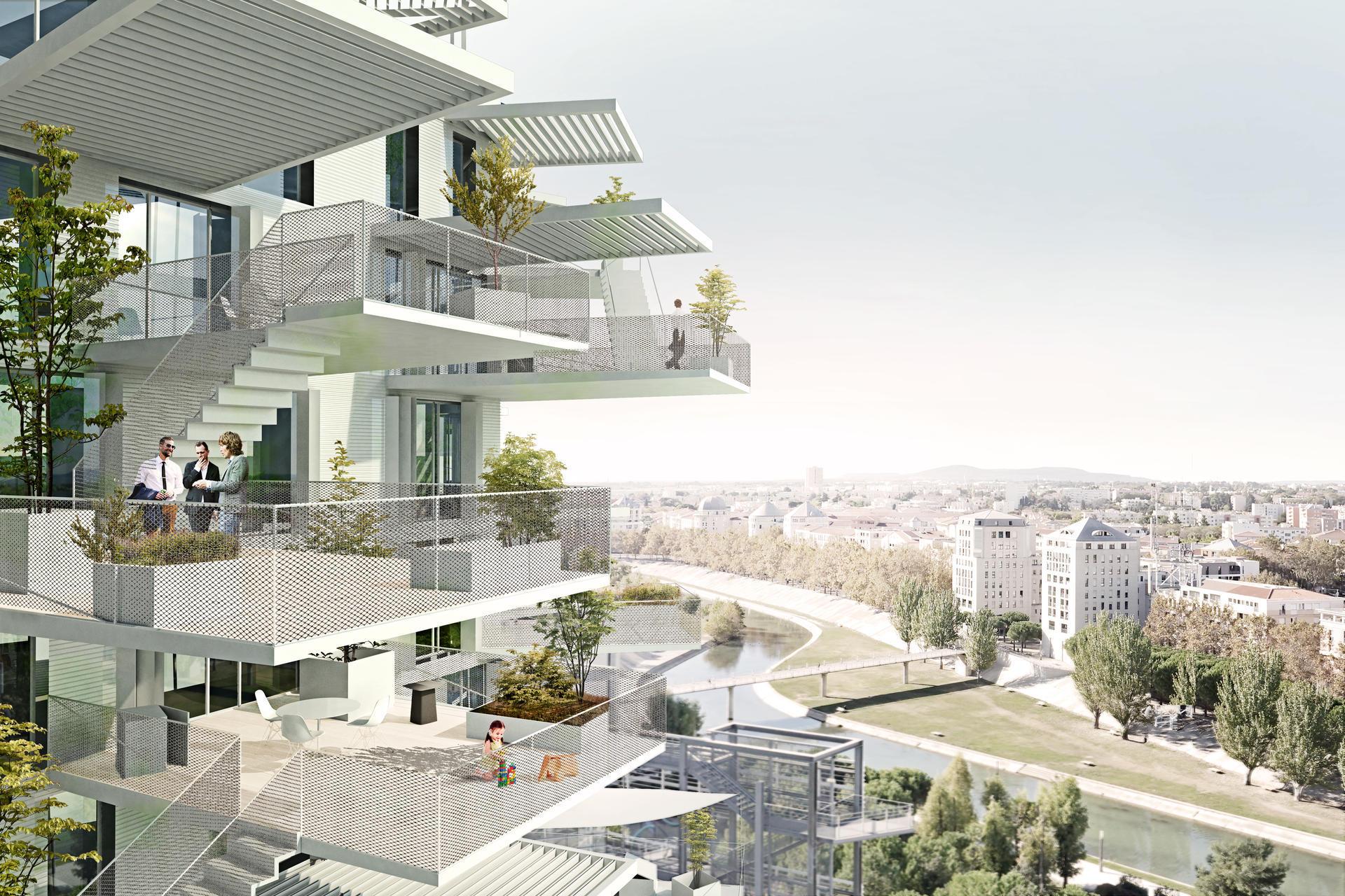white tree balconies