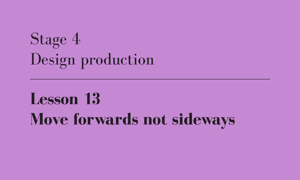 forwards not sideways
