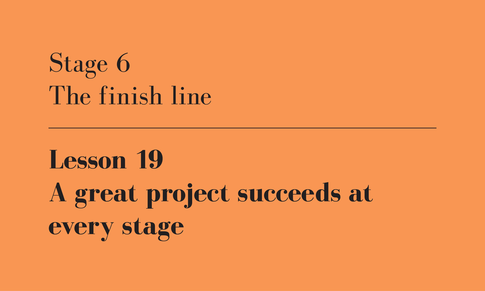 success at every stage