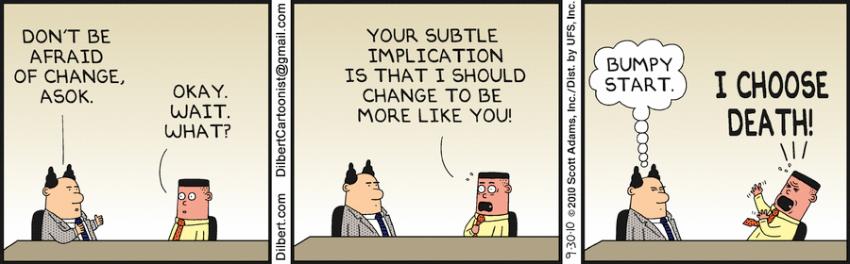 Dilbert; Change