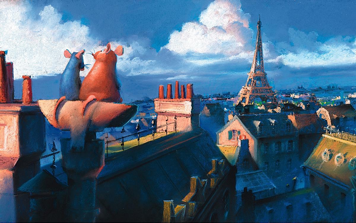 Pixar; artwork; painting; Paris