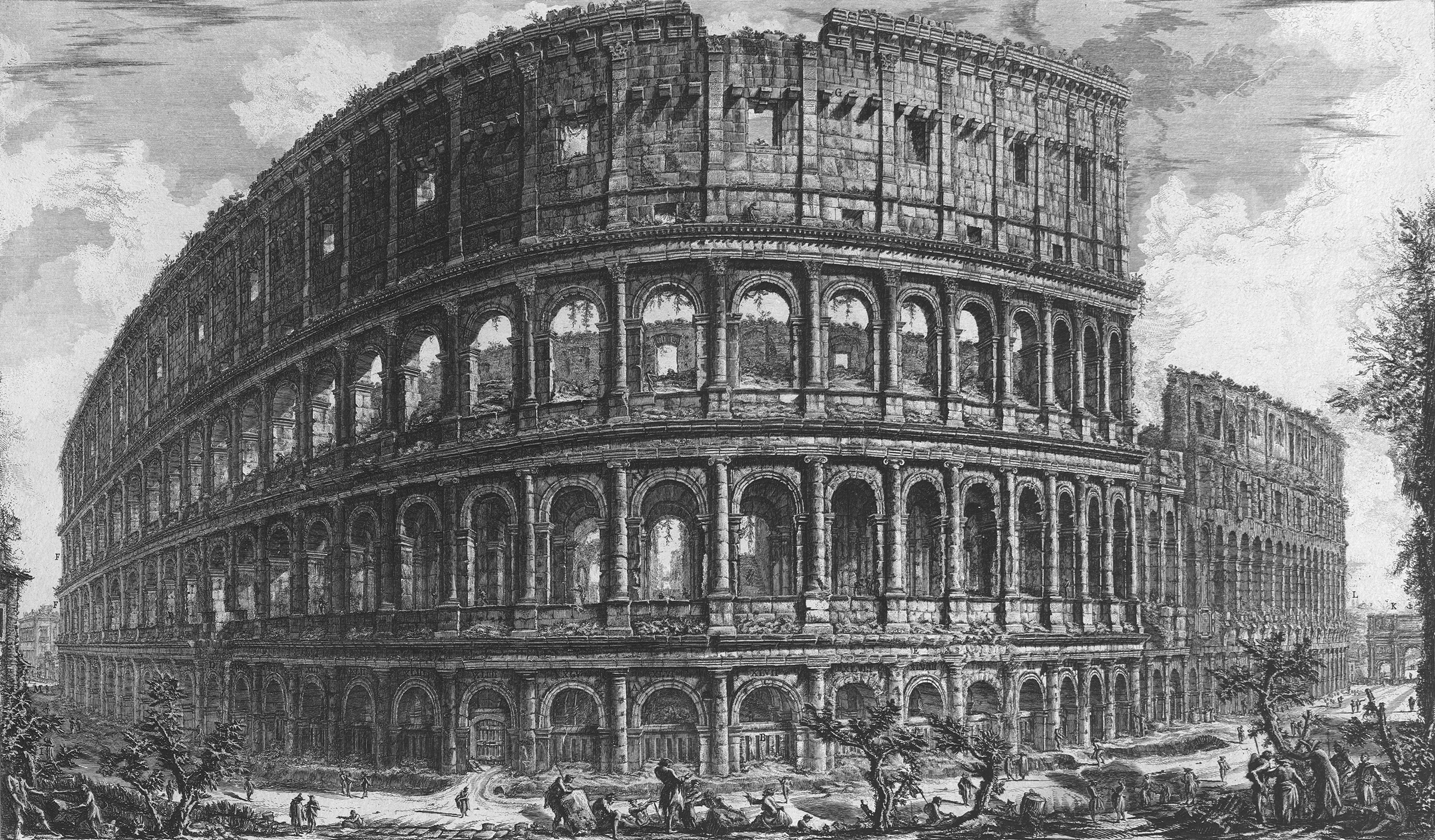 Giovanni Battista Piranesi; Colosseum; Etching; Art